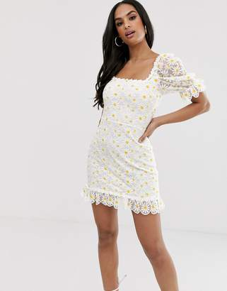 For Love & Lemons Brulee Daisy mini dress