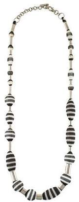 Missoni Fabric Wrapped Beaded Necklace