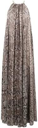 Elie Saab snakeskin print maxi dress