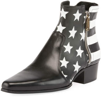 Balmain Stars and Stripes Leather Boot
