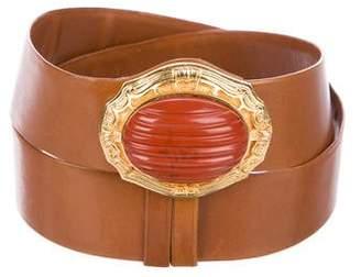 Judith Leiber Embellished Wrap belt