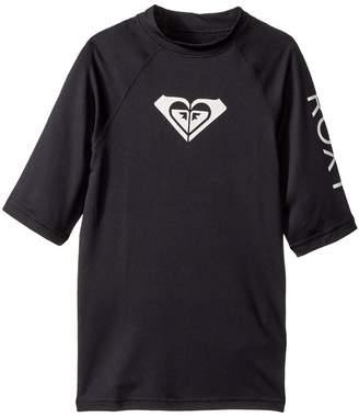 Roxy Kids Whole Hearted Short Sleeve Rashguard Girl's Swimwear