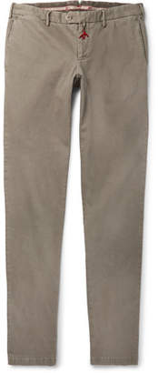 Isaia Slim-Fit Stretch-Cotton Gabardine Chinos