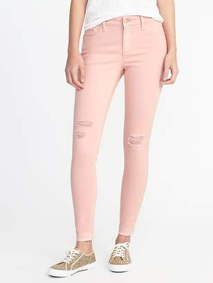 Old Navy Mid-Rise Raw-Edge Rockstar Jeans for Women