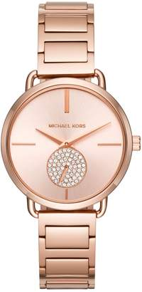 Michael Kors Portia Round Bracelet Watch, 36.5mm