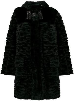 Fendi fur bow buckle coat