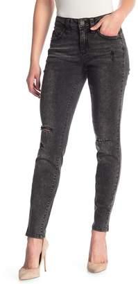 YMI Jeanswear Outerwear Wannabettabutt Mid Rise Distressed Skinny Jeans