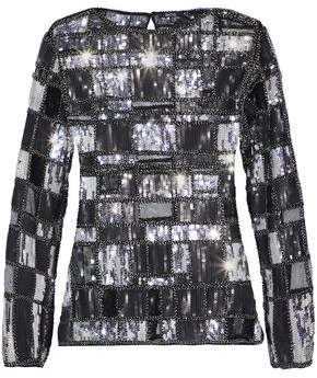 Raoul Bead And Sequin-Embellished Mesh Top