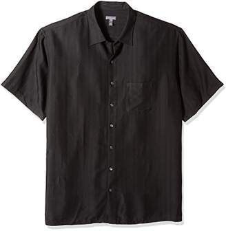 Van Heusen Men's Size Big and Tall Poly Rayon Short Sleeve Button Down Shirt