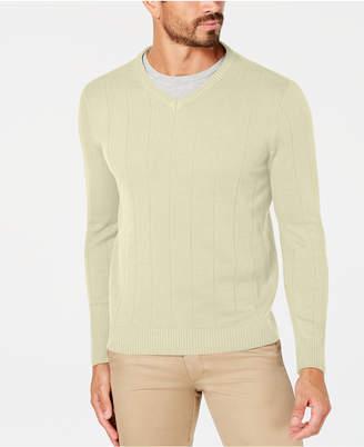 Club Room Men's Textured V-Neck Sweater
