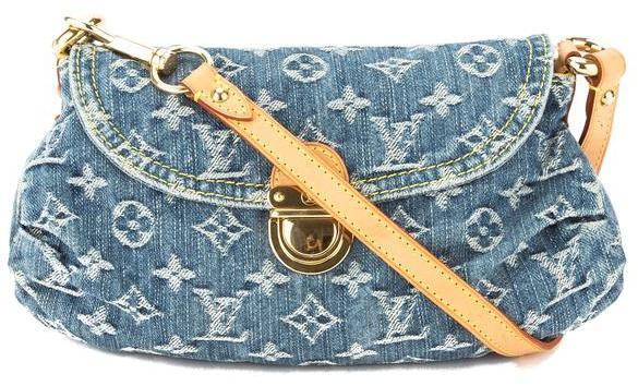 Louis VuittonLouis Vuitton Blue Monogram Denim Mini Pleaty Bag (Pre Owned)