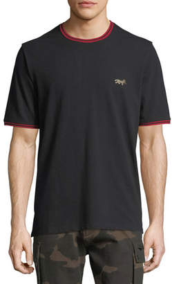 Ovadia & Sons Leopard-Embroidered Piqué T-Shirt