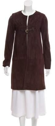 Paule Ka Suede Knee-Length Coat
