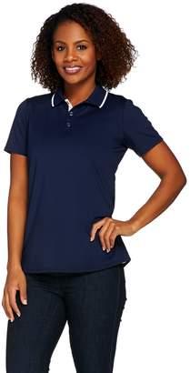 Susan Graver Butterknit Short Sleeve Polo Shirt