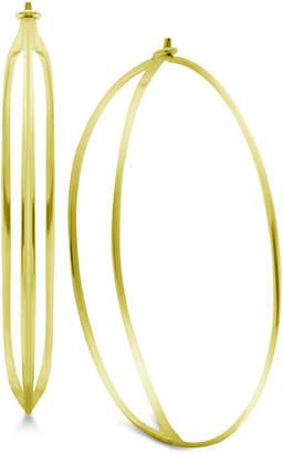 Essentials Double Row Wire Hoop Earrings