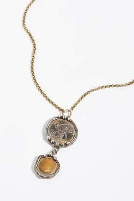 Mikal Winn Stone Drop Coin Pendant