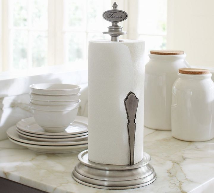Pottery Barn Antique-Silver Paper Towel Holder