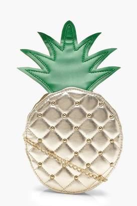 boohoo Erin Metallic Pineapple Round Bag