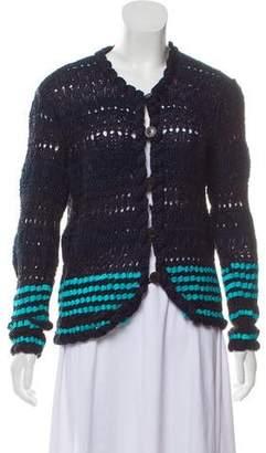 Oscar de la Renta Cashmere Crochet Cardigan