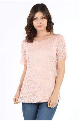Asstd National Brand Stretch Lace Blouse
