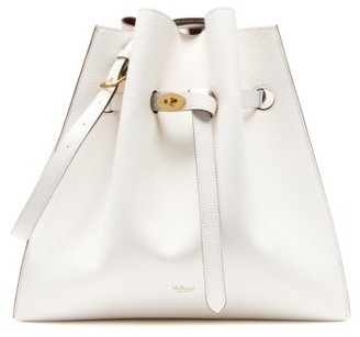 Mulberry Small Tyndale Leather Bucket Bag - White $1,350 thestylecure.com
