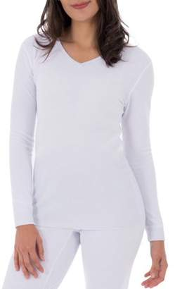 Fruit of the Loom Women's and Women's Plus Waffle Thermal Underwear V-Neck Top