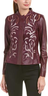 Escada Leather-Blend Jacket