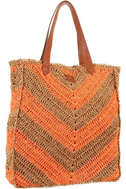 O'Neill Sadie Straw Beach Tote (Electric Coral) - Bags and Luggage