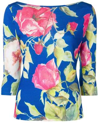 Blugirl floral fine knit sweater