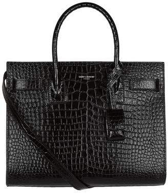 Saint Laurent Baby Croc Sac De Jour Tote Bag