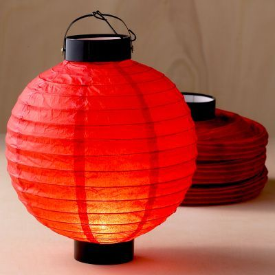 Red Battery-Operated Lantern Pack of 4
