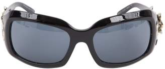 Bulgari Black Plastic Sunglasses