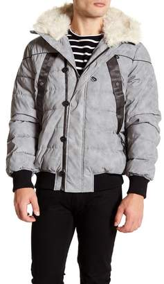 Hunter Faux Fur Trim Original Reflective Astro Bomber Jacket