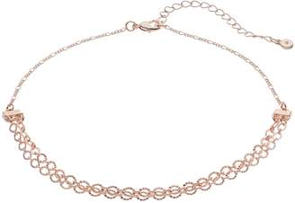 Lauren Conrad Textured Circle Link Swag Choker Necklace