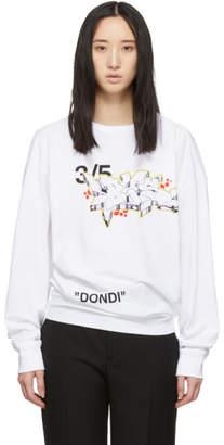 Off-White White Dondi Bus Long Sleeve T-Shirt