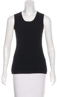 Rag & Bone Sleeveless Mesh-Accented Top