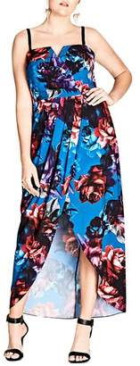 City Chic Plus Jewel Floral Maxi Dress