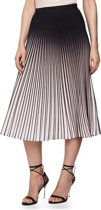 Reiss Marlie Ombre Pleated Midi Skirt