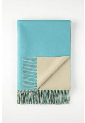 Johnstons of Elgin Aqua Double Faced Reversible Cashmere Throw