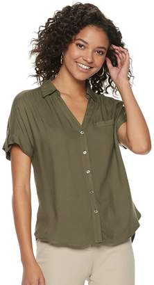 Candies Juniors' Candie's Button Front Top