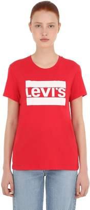 Levi's Logo Print Cotton Jersey T-Shirt