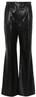 Prada Flared leather pants