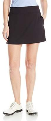 "PGA TOUR Women's 16"" Solid Knit 16 Inch Airflux Skort with Tummy Control Waistband,L"