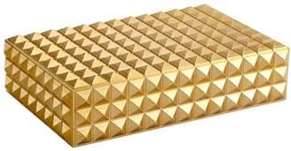 L'OBJET Medium Pyramid Gold-Plated Box