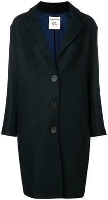 Semi-Couture Semicouture midi single breasted coat