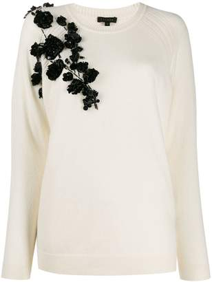 Escada embellished long sleeved jumper