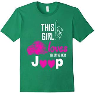 This girl love to drive her jeep shirt