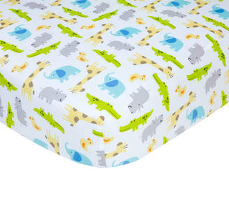 Carter's Safari Print Sateen Crib Fitted Sheet