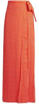 Preen By Thornton Bregazzi - Agnel Wrap Maxi Skirt - Womens - Red Print