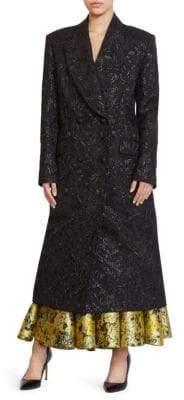 Erdem Almeda Lurex Jacquard Coat